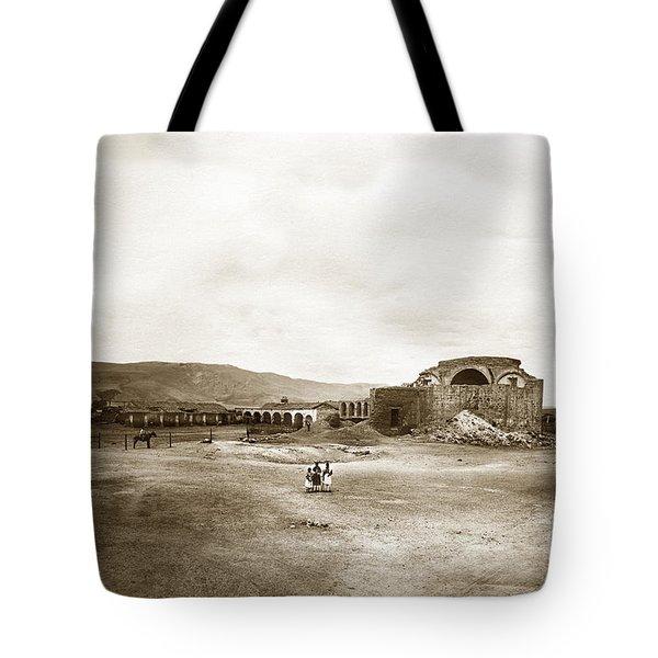 Mission San Juan Capistrano California Circa 1882 By C. E. Watkins Tote Bag by California Views Mr Pat Hathaway Archives