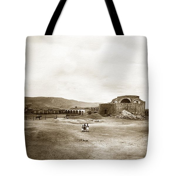 Mission San Juan Capistrano California Circa 1882 By C. E. Watkins Tote Bag