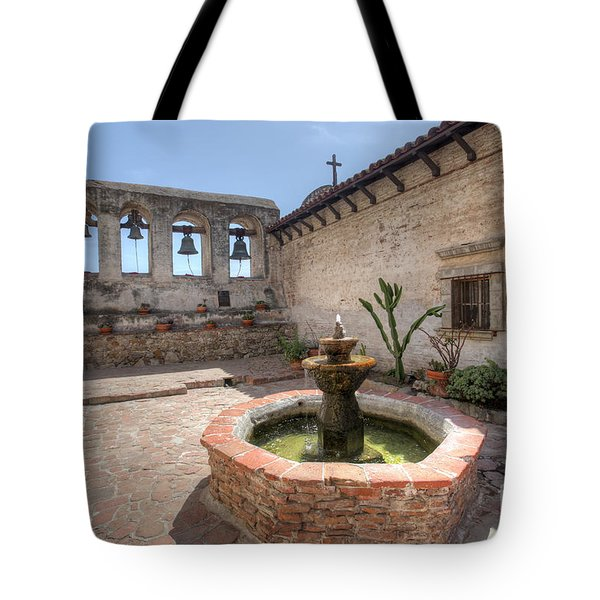 Tote Bag featuring the photograph Mission Bells San Juan Capistrano by Martin Konopacki