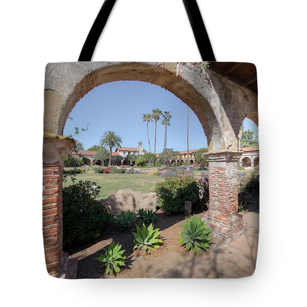 Tote Bag featuring the photograph Mission San Juan Capistrano by Martin Konopacki