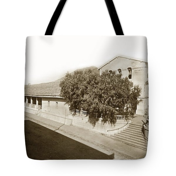 Mission San Luis Obispo De Tolosa California 1880  Tote Bag by California Views Mr Pat Hathaway Archives
