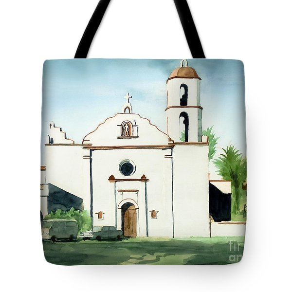 Mission San Luis Rey Colorful II Tote Bag by Kip DeVore
