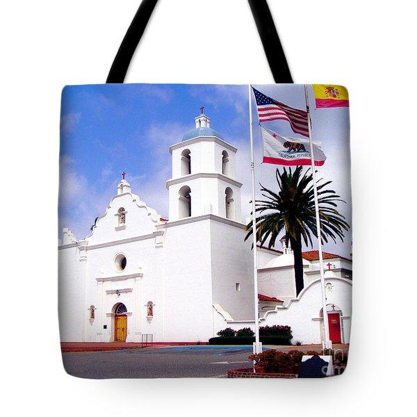 Mission San Luis Rey Tote Bag by Jerome Stumphauzer