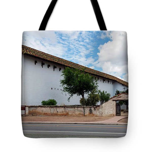 Mission San Miguel Church At Roadside Tote Bag
