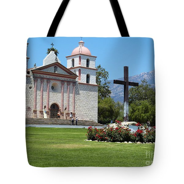 Mission Santa Barbara Tote Bag by Methune Hively