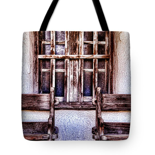 Mission Soledad Window Seating By Diana Sainz Tote Bag