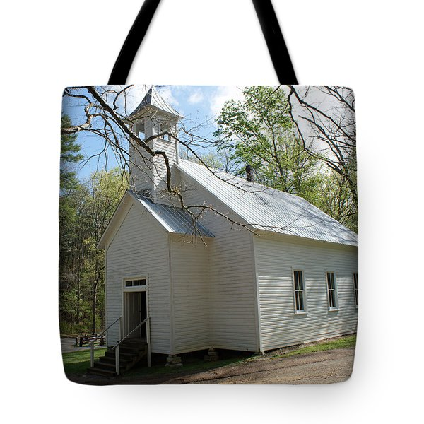Missionary Baptist Church In Cades Cove Tote Bag by Roger Potts