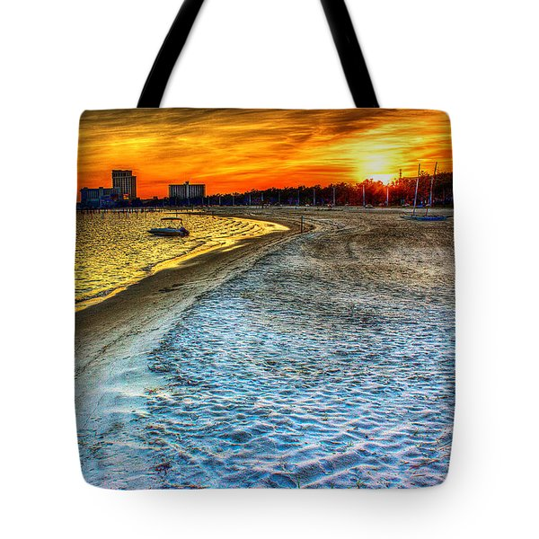 Beach - Coastal - Sunset - Mississippi Gold Tote Bag