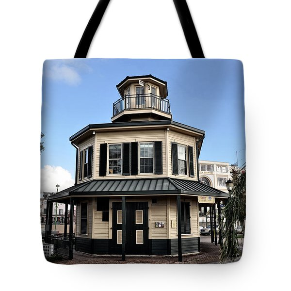 Mississippi River Lighthouse New Orleans Tote Bag by Bill Cannon