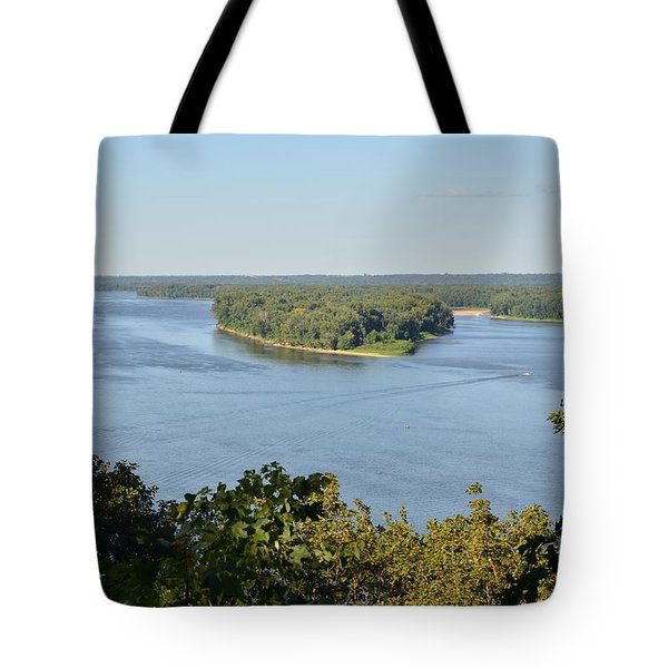 Mississippi River Overlook Tote Bag