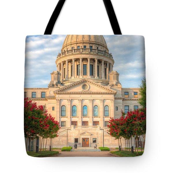 Mississippi State Capitol V Tote Bag