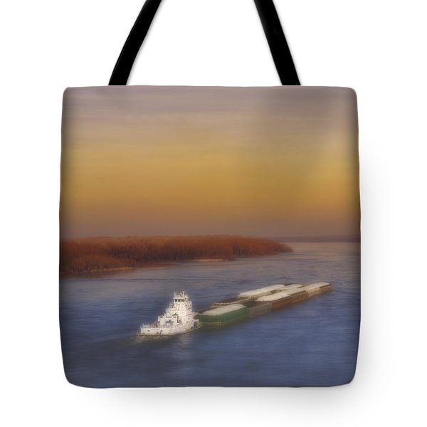 Mississippi Sunset Tote Bag