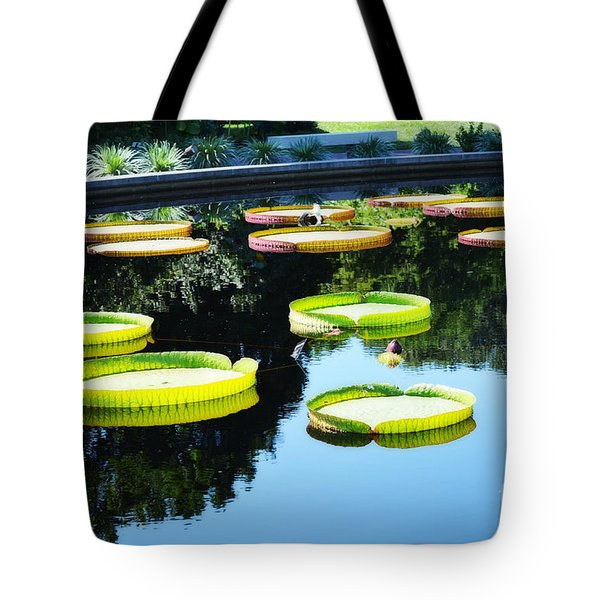 Missouri Botanical Garden Giant Lily Pads Tote Bag by Luther Fine Art
