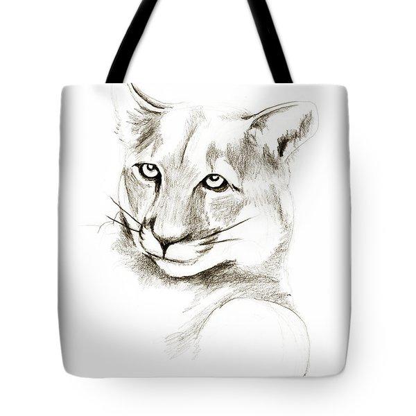 Missouri Mountain Lion II Tote Bag by Kip DeVore