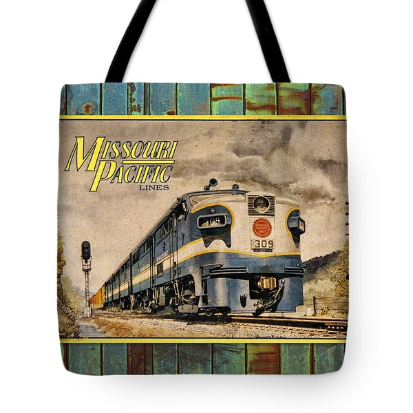 Missouri Pacific Lines Sign Engine 309 Dsc02854 Tote Bag