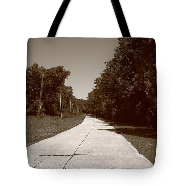 Missouri Route 66 2012 Sepia. Tote Bag by Frank Romeo