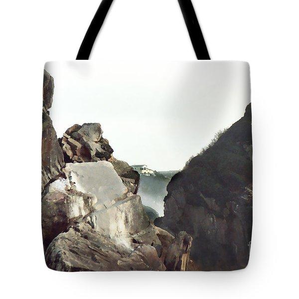 Mist Among The Break Tote Bag by Peter Piatt