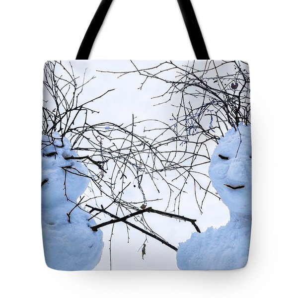 Mister And Missis Snowball - Featured 3 Tote Bag by Alexander Senin
