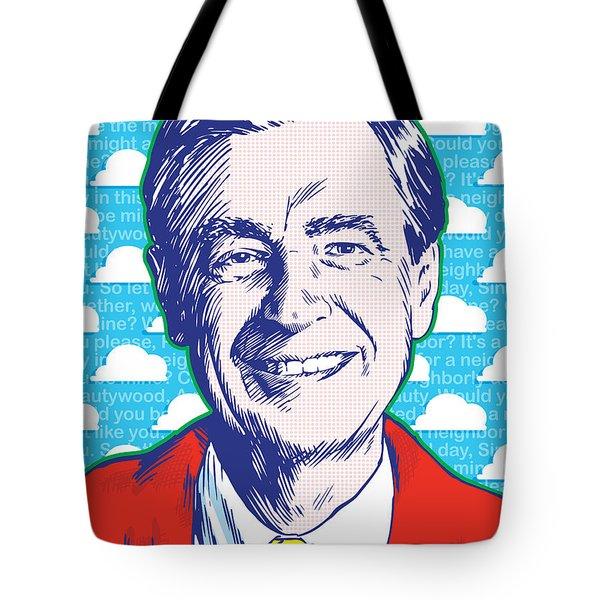 Mister Rogers Pop Art Tote Bag