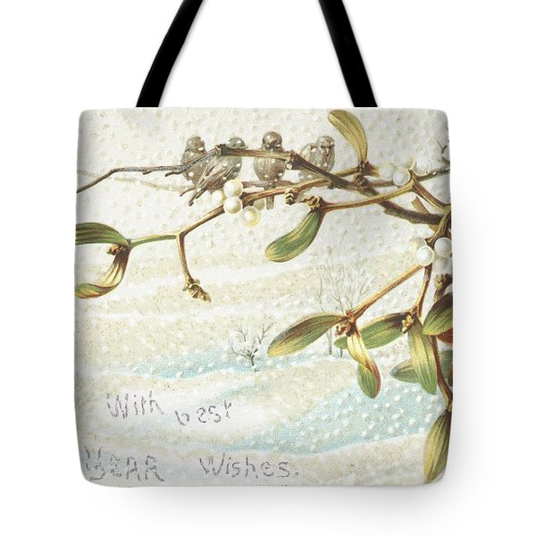 Mistletoe In The Snow Tote Bag by English School