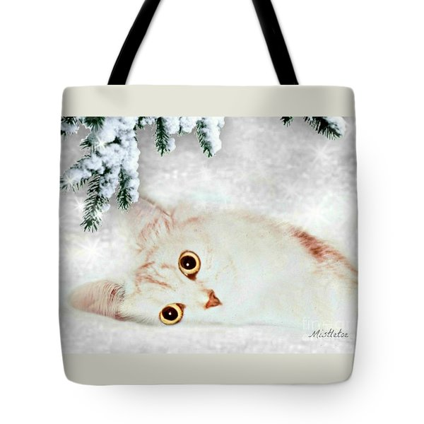 Mistletoe In The Snow Tote Bag by Morag Bates