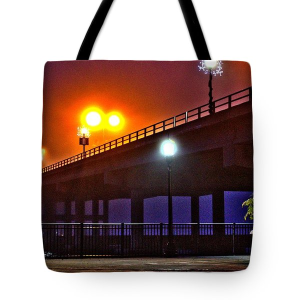 Misty Bridge Tote Bag
