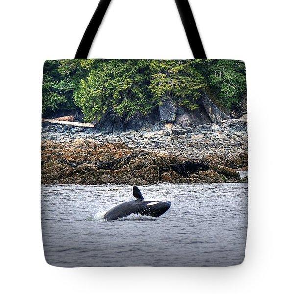 Misty Fjords Orca Tote Bag