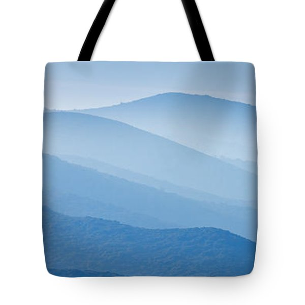Misty Blue Hills Tote Bag