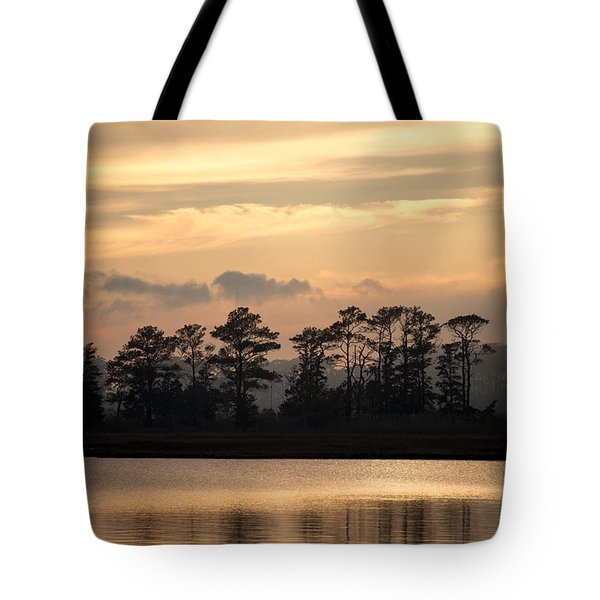 Misty Island Of Assawoman Bay Tote Bag