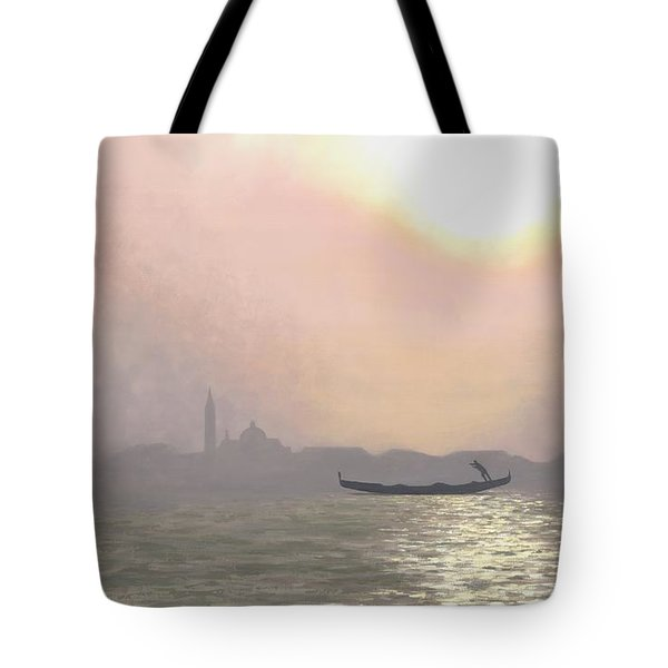 Misty Lagoona 34 X 47 Tote Bag