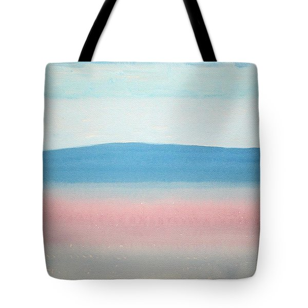 Misty Lake Original Painting Tote Bag