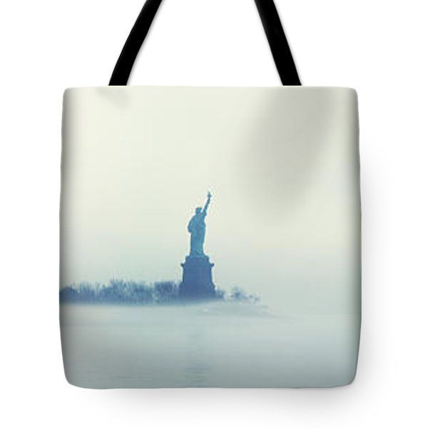 Misty Liberty Tote Bag by Nishanth Gopinathan