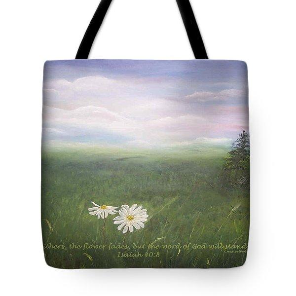 Misty Meadow Isaiah  Tote Bag