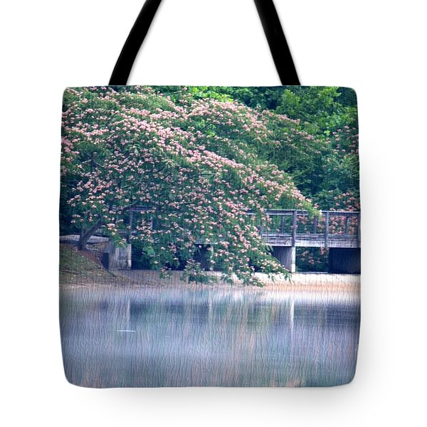 Misty Mimosa Reflections Tote Bag