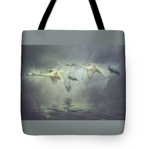 Misty Moon Shadows Tote Bag