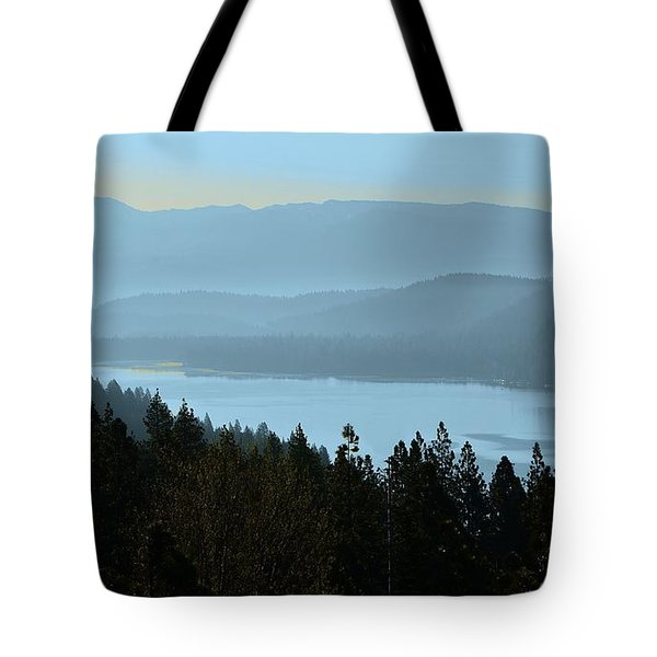 Misty Morning At Donner Lake Tote Bag