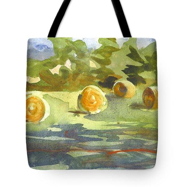 Misty Morning Gold Tote Bag by Kip DeVore