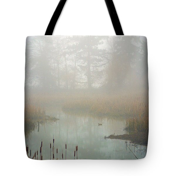 Tote Bag featuring the photograph Misty Morning by Jordan Blackstone