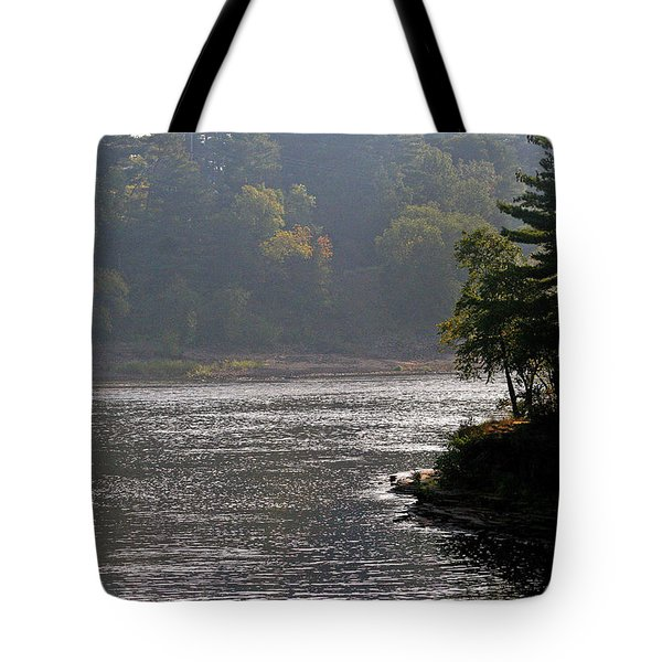 Tote Bag featuring the photograph Misty Morning by Kay Novy