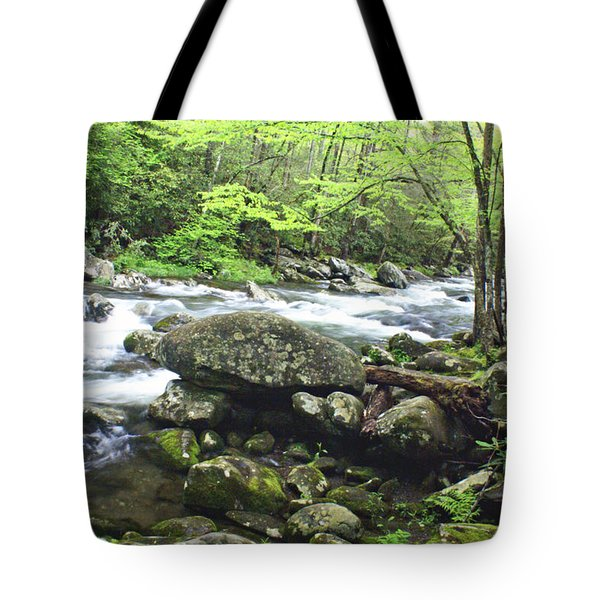 Misty Morning On The River Tote Bag by Marty Koch