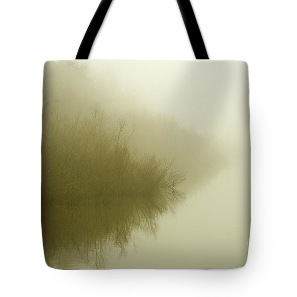 Misty Morning Reflection. Tote Bag by Clare Bambers