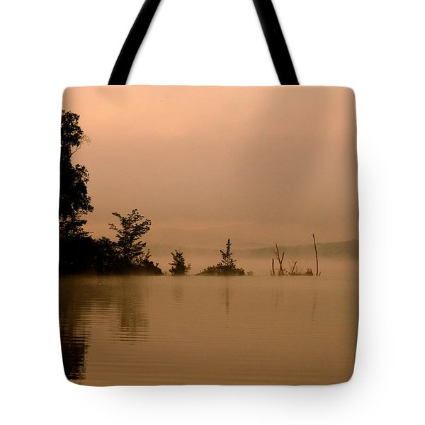 Misty Morning Solitude  Tote Bag