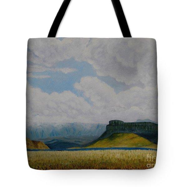 Misty Mountain Tote Bag by Caroline Street