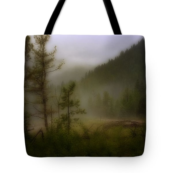 Tote Bag featuring the photograph Misty Mountain by Ellen Heaverlo