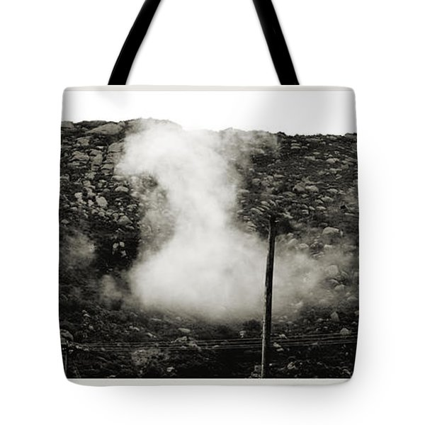 Misty Mountain Morning Tote Bag by Cindy Nunn
