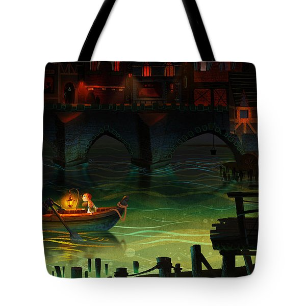 Misty Night Tote Bag