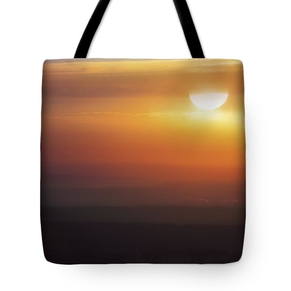 Misty Peaks And Valleys Under The Rising Sun - Mt. Nebo - Arkansas Tote Bag