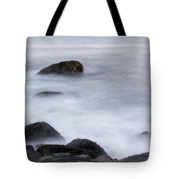 Misty Rocks Tote Bag