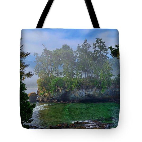 Misty Seastack Tote Bag
