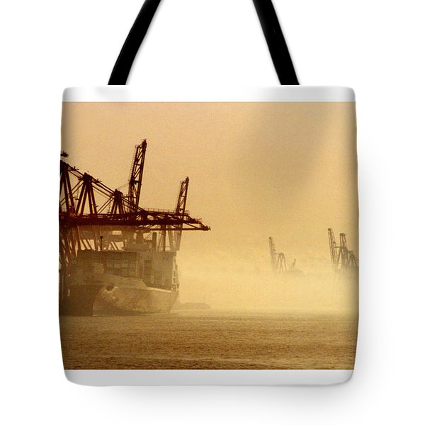 Misty Seattle Waterfront Tote Bag by Jack Pumphrey
